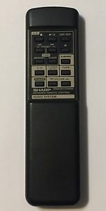 Sharp RRMCG0103AWSA Audio System Infared Remote Control Controller