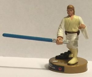 Star Wars Attacktix Luke Skywalker Gold Base Game Figure 2005
