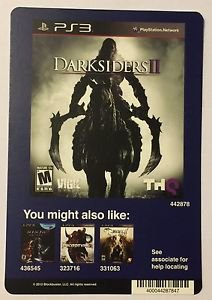 Playstation 3 Darksiders II Blockbuster Artwork Display Card