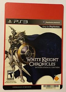 Playstation 3 White Knight Chronicles Blockbuster Artwork Display Card
