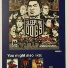 Playstation 3 Sleeping Dogs Blockbuster Artwork Display Card