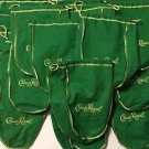 Crown Royal Lot of 25 Green Apple Drawstring Bags 750 ML