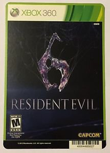 Xbox 360 Resident Evil 6 Blockbuster Artwork Display Card