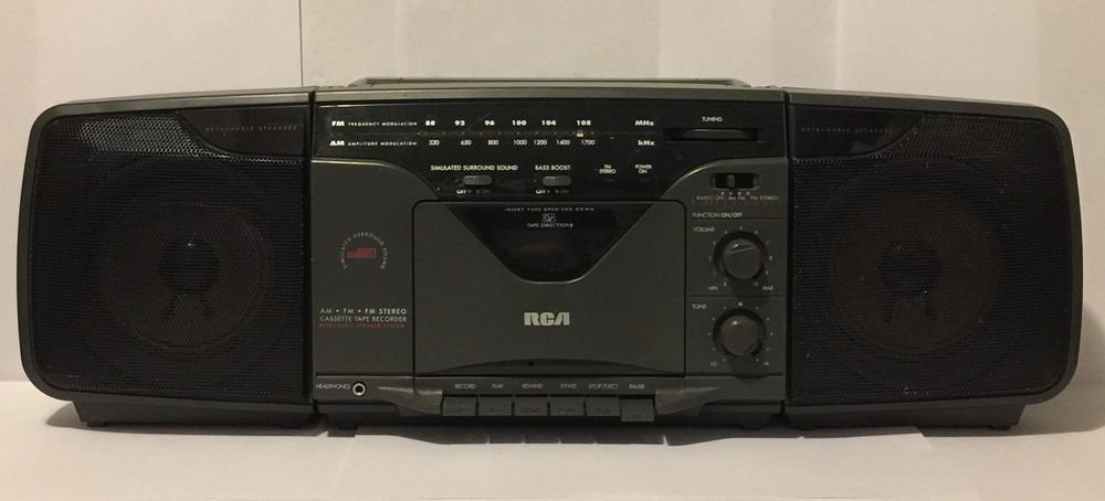 RCA Model RP-7824A Portable Boombox AM/FM Stereo Cassette Tape Recorder