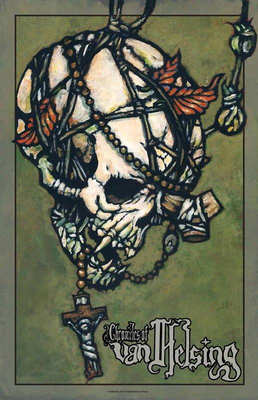 Chronicles Of Van Helsing Vampire Skull Poster By Tony Morgan Darkslinger Comics