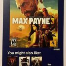 Playstation 3 Max Payne 3 Rockstar Games Blockbuster Artwork Display Card