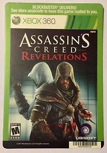 Xbox 360 Assassin's Creed Revelations Blockbuster Artwork Display Card