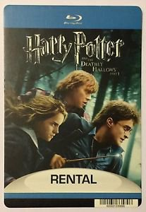 Harry Potter & The Deathly Hallows Pt 1 Blu-Ray Blockbuster Artwork Display Card