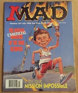 MAD Magazine #347 (Jul 1996, EC) 1996 Olympics Parody Cover