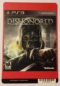 Playstation 3 DisHonored Blockbuster Artwork Display Card