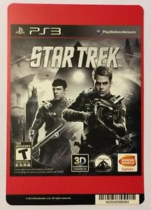 Playstation 3 Star Trek Blockbuster Artwork Display Card