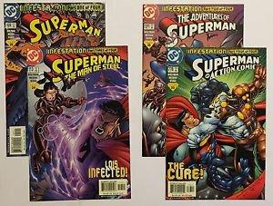 Superman Infestation Complete 4 Issue Comic Set Adventures of Superman 591 Actio