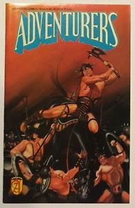 Adventurers Book III #4 (Jan 1990, Malibu) FN/VF Condition Autographed Page Groh
