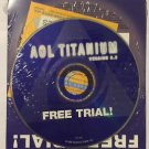 AOL Titanium Version 5.0 Vintage Computer CD-Rom Sealed Brand New