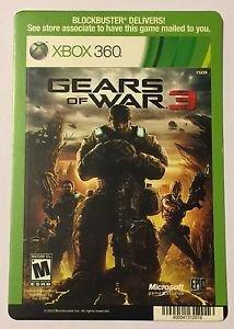 Xbox 360 Gears of War 3 Blockbuster Artwork Display Card
