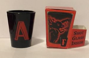 Fireball Whisky Shot Glass Dragon Letter A
