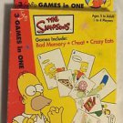 The Simpsons 3 In One Card Game Bad Memory Cheat and Crazy Eats 2001 Rose Art