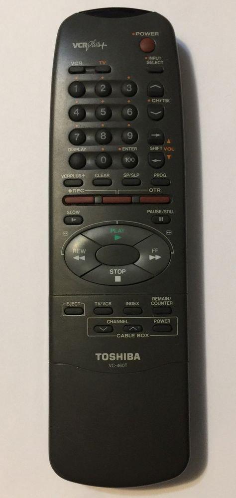 Toshiba VC-460T VCR Plus Remote Control Controller