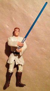 Star Wars Episode 1 Battle Swing Obi-Wan Kenobi Action Figure With Lightsaber