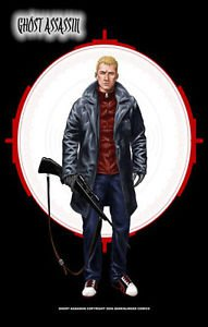 Ghost Assassin David in White Scope Sights 11x17 Inch Poster Darkslinger Comics
