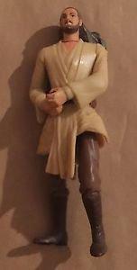 Star Wars Episode 1 Qui Gon Jinn Deluxe 1999 Action Figure Hasbro