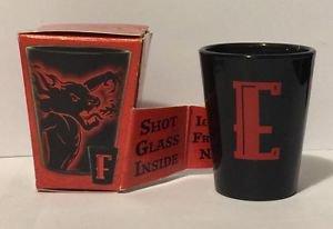 Fireball Whisky Shot Glass Dragon Letter E