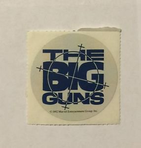 The Big Guns Punisher Sticker 1992 Marvel Comics