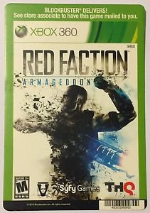 Xbox 360 Red Faction Armageddon Blockbuster Artwork Display Card