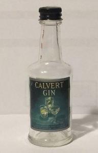 Calvert Gin Vintage Miniature Empty Bottle