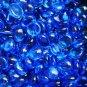 Creative Stuff Glass - 1 lb bag Crystal Aqua Blue Glass Gems Flat Marble Vase Fillers Mosaic Stones