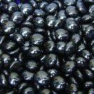 Creative Stuff Glass 100 Black Glass Gems Mosaic Tiles Pebbles Flat Marble Centerpiece Vase Fillers