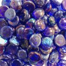 Creative Stuff Glass 1 lb Cobalt Blue Irid Glass Gems Stones Mosaic Tiles Flat Marbles Vase Fillers