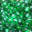 Creative Stuff Glass - 1 lb bag Crystal Green Glass Gems Flat Marbles Vase Fillers Mosai