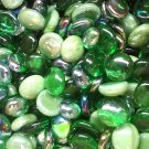 Creative Stuff Glass 1 lb St Patrick's Mix - Green Glass Gems Flat Marbles Vase Fillers