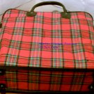 Picnic Set with Carrying Bag Aladdin Plaid Vintage