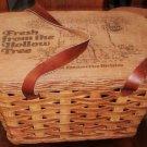 Keebler Advertising Picnic Basket with Leather Straps Vintage