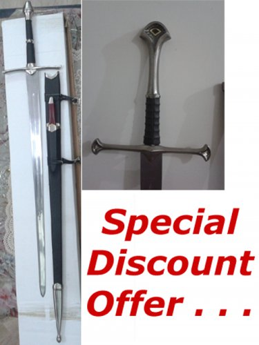 LOTR ANDURIL SWORD + ARAGORN STRIDER SWORD WITH KNIFE (2 PIECE OFFER)