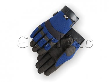 MAJESTIC 2137BL Mechanics Armor Skin Synthetic Leather Velcro Work Gloves XXL