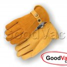 Majestic 1544T Gold Deerskin Work Gloves w/ Reversed Back Thinsulate - LARGE