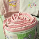 Parents Choice Enchanted Flight Bumper Pad and Two Crib Blankets To Match