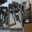 Lot Vintage Hand Crank Clamp Style Food Meat Grinders Universal Climax Keystone