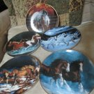 Five Horses For All Seasons Collector Calendar Plates by Chris Cummings