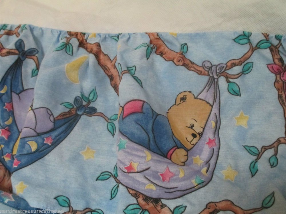 Cute Kitty Bears In Hammock Baby Crib Bumper Pad W Crib Skirt For Full Size Crib
