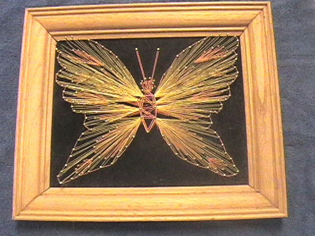 Vintage String Art Embroidery Threads Arts Crafts 1970s Fun Home Art