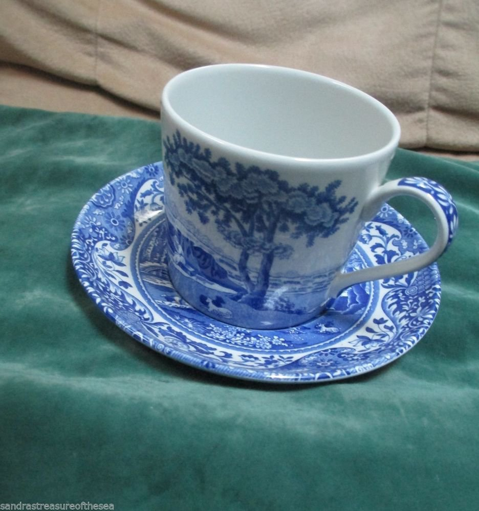 Spode Blue Italian China Cup and Saucer Captures Imagination Since 1918 England