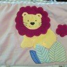 Tiddliwinks Baby Crib Bumper Appliqued Jungle Animals On Light Background Lion