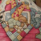 Baby Crib Quilt Noahs Ark Baby Animals Sleeping Elephants Giraffes Teddy Bear