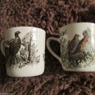Four Vintage Johnson Brothers England Game Bird Mugs Partridge Grouse Quail 1953