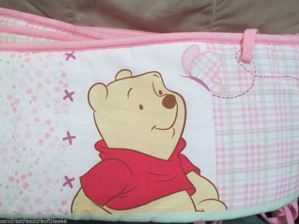 Crown Crafts Winnie the Pooh Crib Bumper Standard Crib Cute Pink For Your Baby