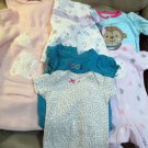 Lot Girls NB 0 to 9 months Clothes Child of Mine Coogi Carters Weather Tamer